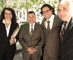 "The ""Legal Dream Team"" representing Jose pro bono, from left Edie Lerman, Jose Gutierrez, Omar Figueroa,Tony J. Serra,"