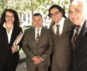 "The ""Legal Dream Team"" representing Jose pro bono, from left Edie Lerman, Jose Gutierrez, Omar Figueroa,Tony J. Serra,"